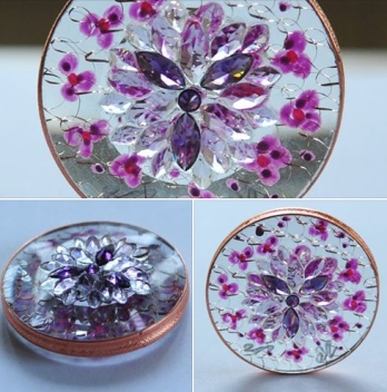 "The violet flame works by changing ""vibrations"". In physics, vibration is the speed of oscillation – the speed at which something moves back and forth. On the atomic level, vibration can be understood to be the speed at which electrons orbit around the nucleus of the atom. The violet flame works by changing vibrations on this level."